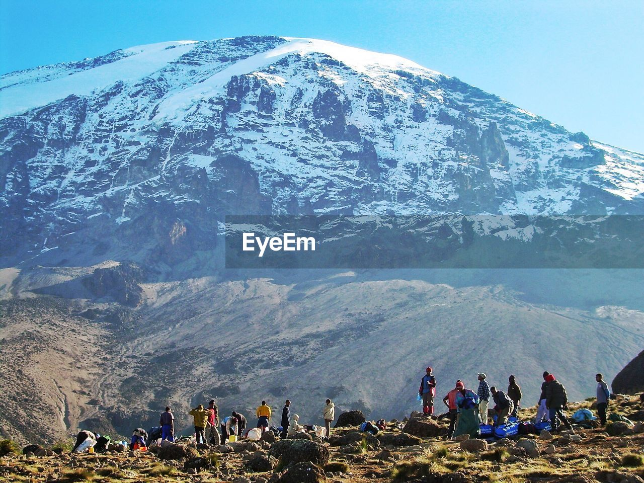 mountain, leisure activity, group of people, crowd, real people, large group of people, mountain range, nature, scenics - nature, beauty in nature, women, lifestyles, hiking, men, sky, activity, landscape, day, holiday, outdoors, mountain peak, snowcapped mountain
