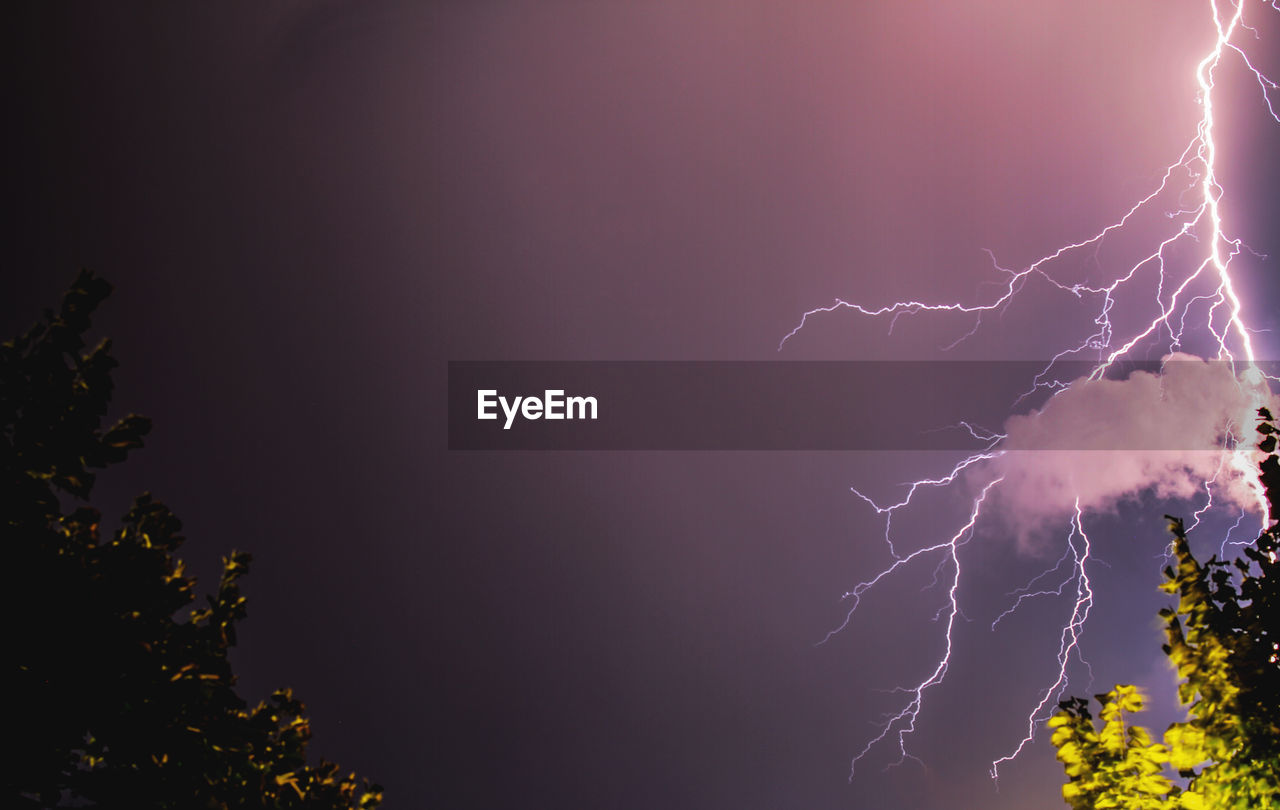 Low angle view of thunder in sky