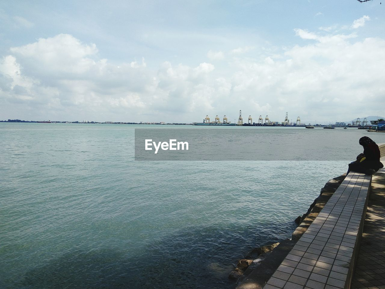 water, sky, sea, cloud - sky, day, outdoors, nature, scenics, beauty in nature, built structure, no people, horizon over water, architecture