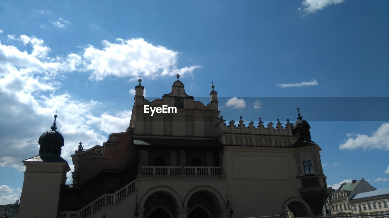 LOW ANGLE VIEW OF CHURCH AGAINST CLOUDY SKY