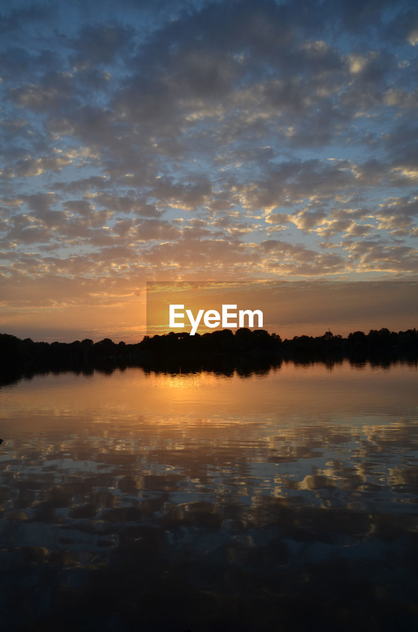sunset, tranquility, tranquil scene, nature, sky, water, beauty in nature, scenics, reflection, outdoors, no people, day