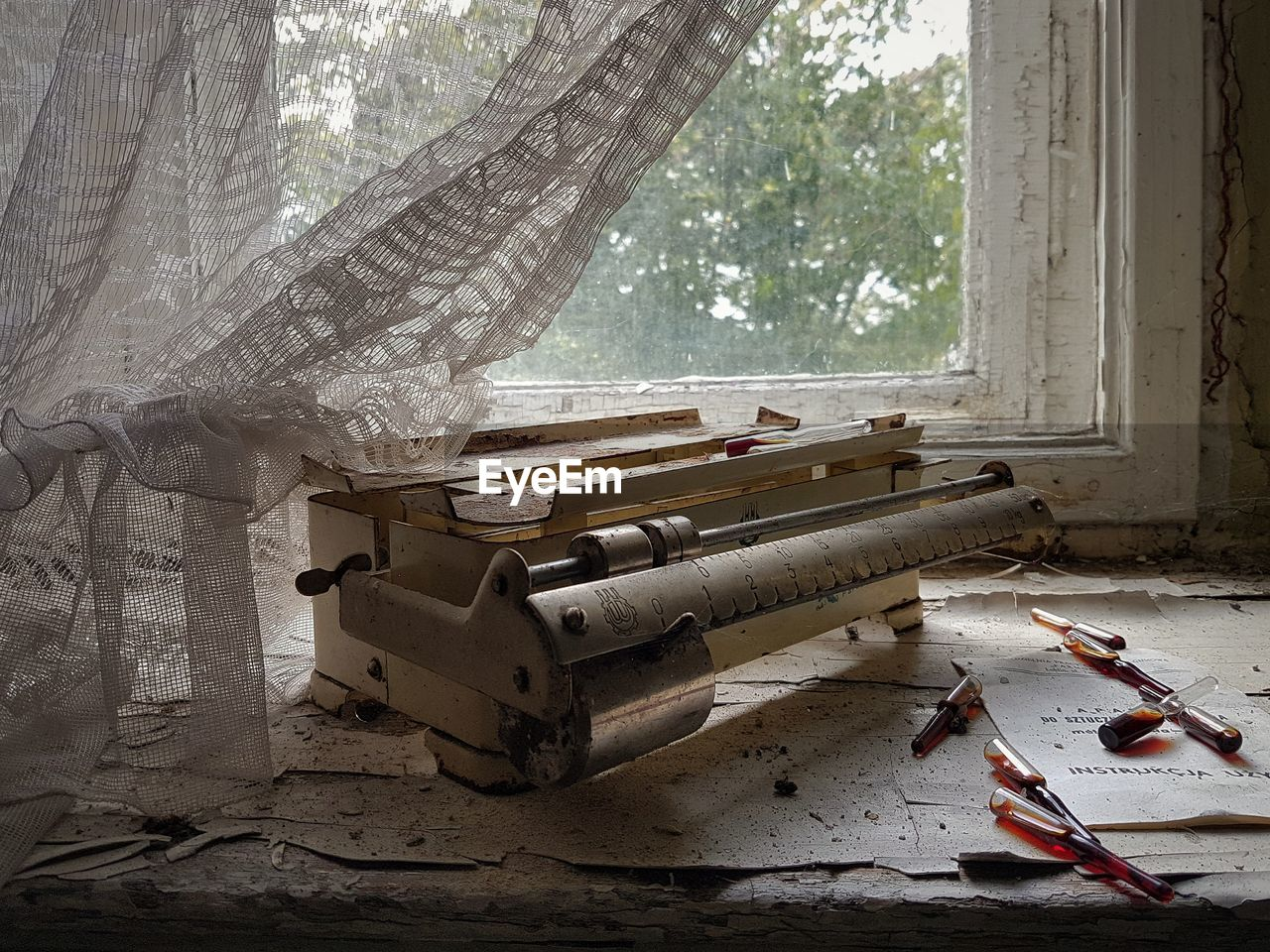 Old scales in abandoned building
