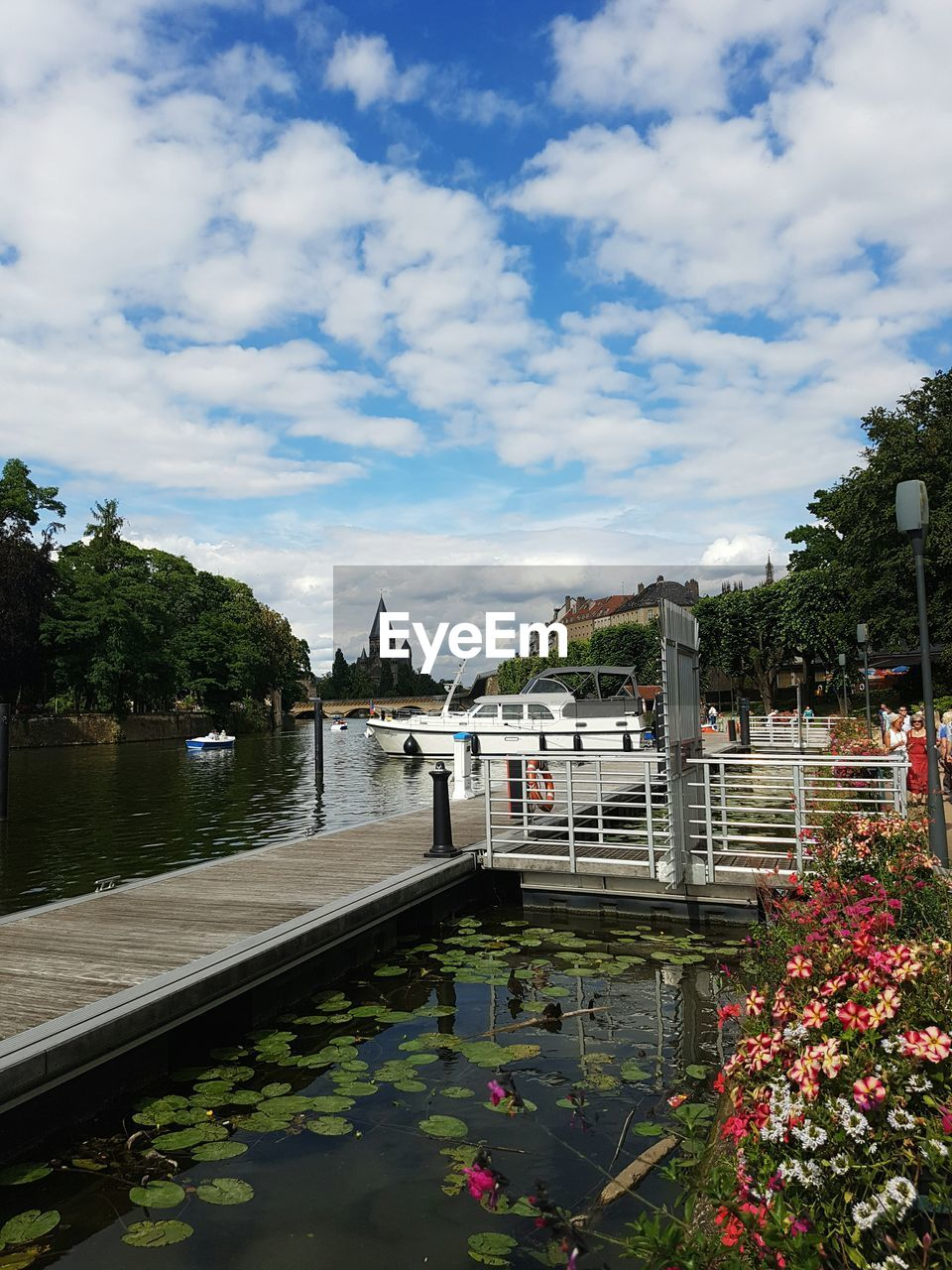 water, cloud - sky, tree, sky, architecture, built structure, day, building exterior, river, outdoors, nature, nautical vessel, beauty in nature, no people, transportation, growth, travel destinations, flower, city
