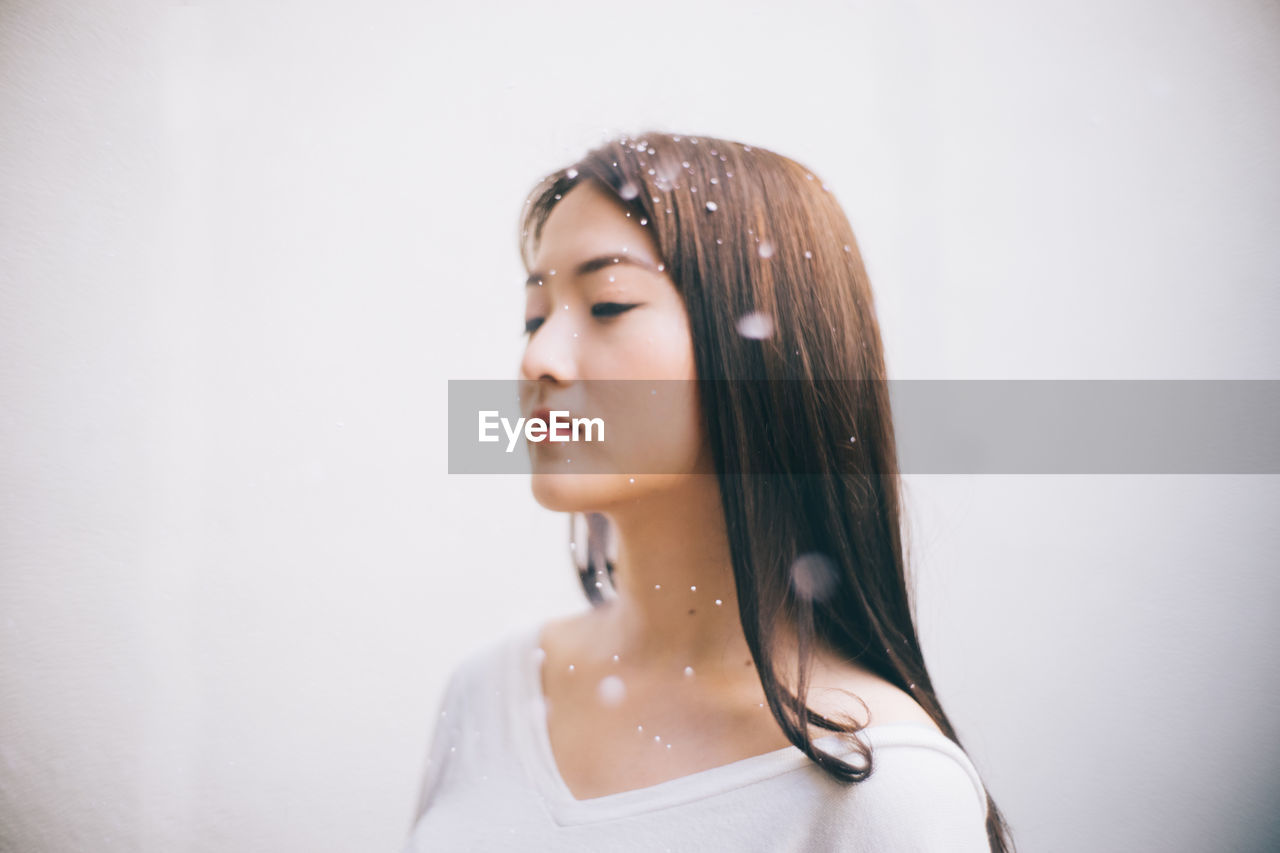 Young Woman With Water Drops
