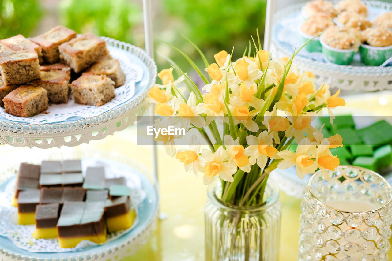 Close-Up Of Afternoon Tea Cakes