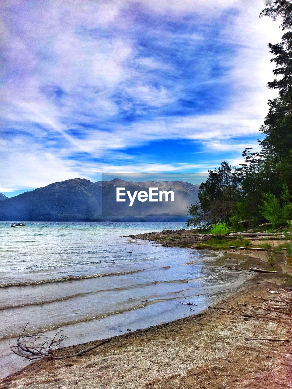 sky, water, scenics, beauty in nature, sea, nature, tranquility, cloud - sky, no people, tranquil scene, outdoors, tree, beach, landscape, day, mountain