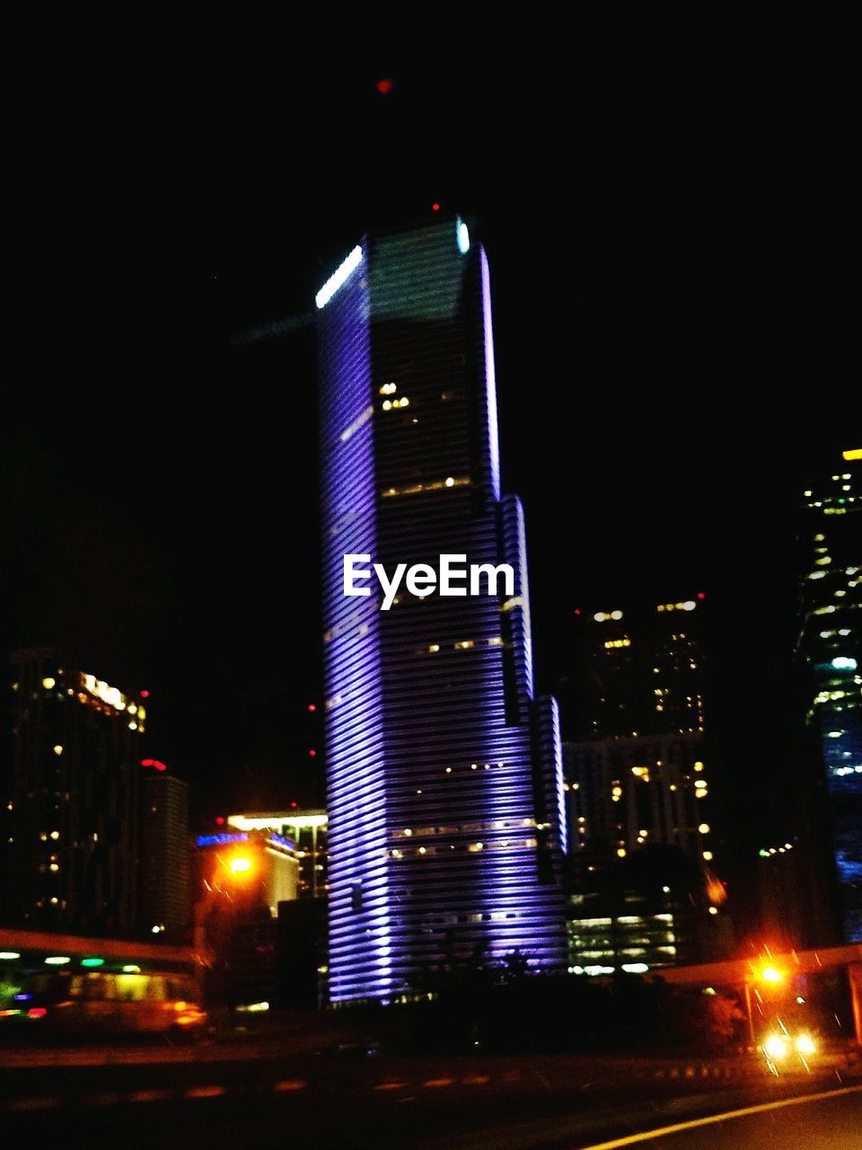 illuminated, night, building exterior, architecture, built structure, tall - high, city, skyscraper, no people, modern, outdoors, cityscape, sky