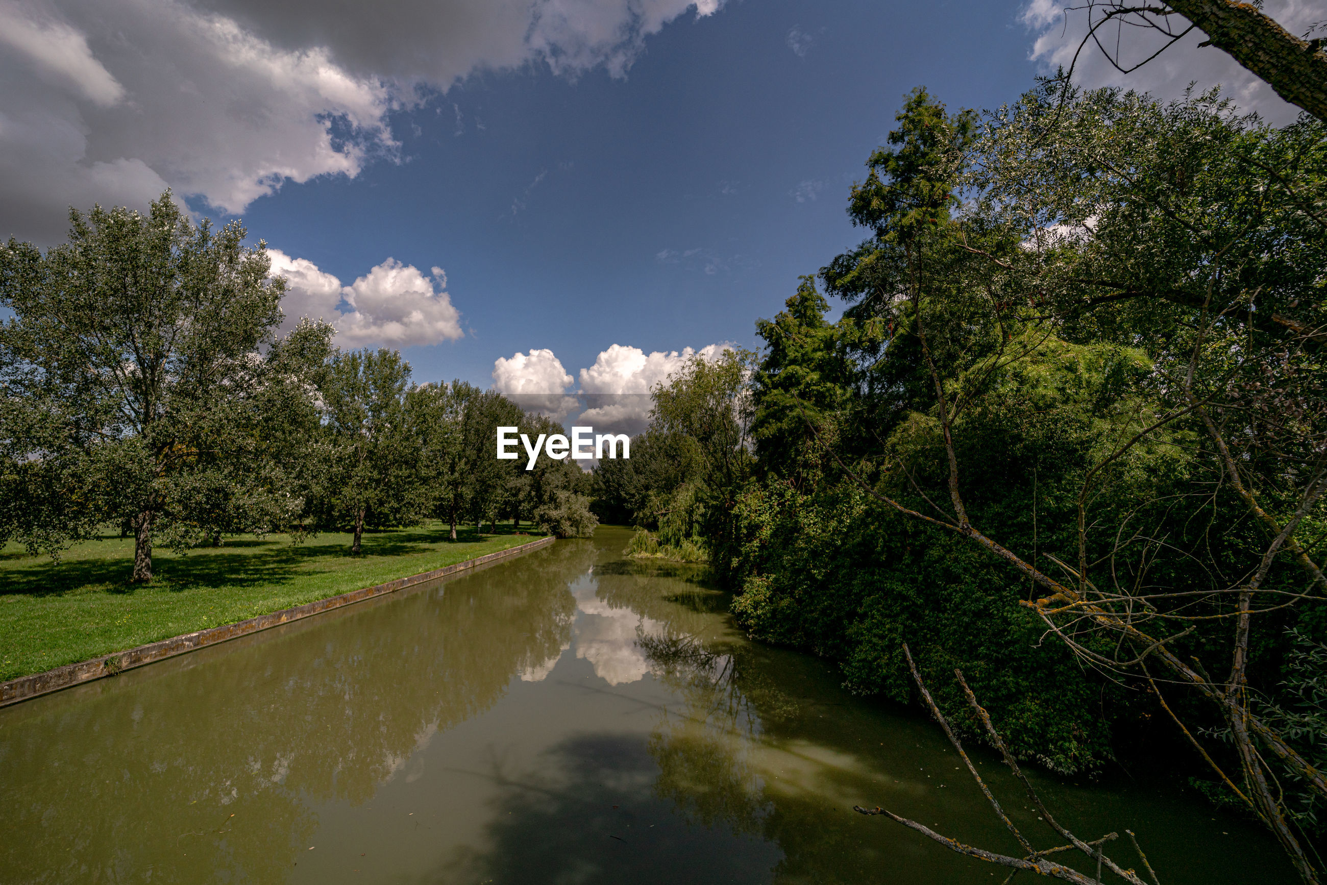 SCENIC VIEW OF CANAL AGAINST SKY