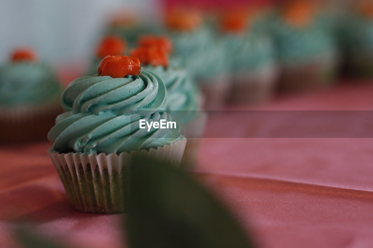 Close Up Of Cupcakes On Table