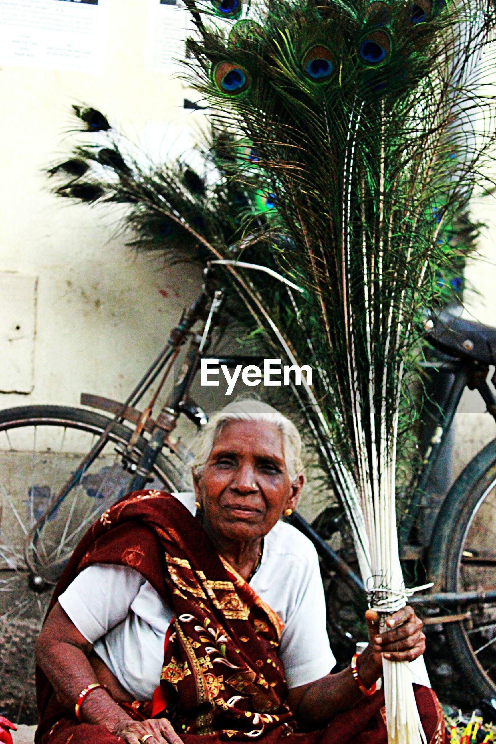 Senior street vendor
