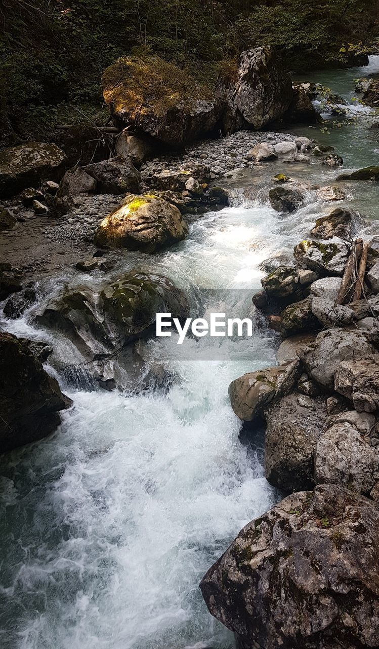 rock - object, nature, rock, beauty in nature, no people, tranquil scene, water, tranquility, outdoors, scenics, day, motion, forest, waterfall, tree