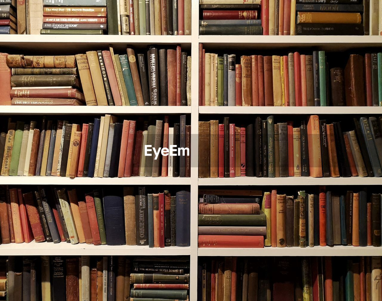 shelf, book, large group of objects, publication, bookshelf, education, library, abundance, in a row, indoors, arrangement, no people, literature, order, backgrounds, collection, choice, variation, full frame, still life, antique, hardcover book