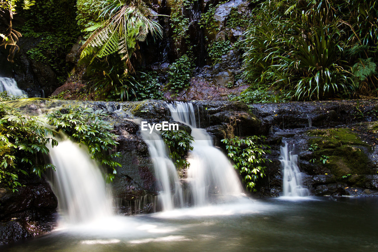 waterfall, motion, long exposure, water, blurred motion, nature, scenics, beauty in nature, no people, river, tree, holiday, outdoors, forest, day
