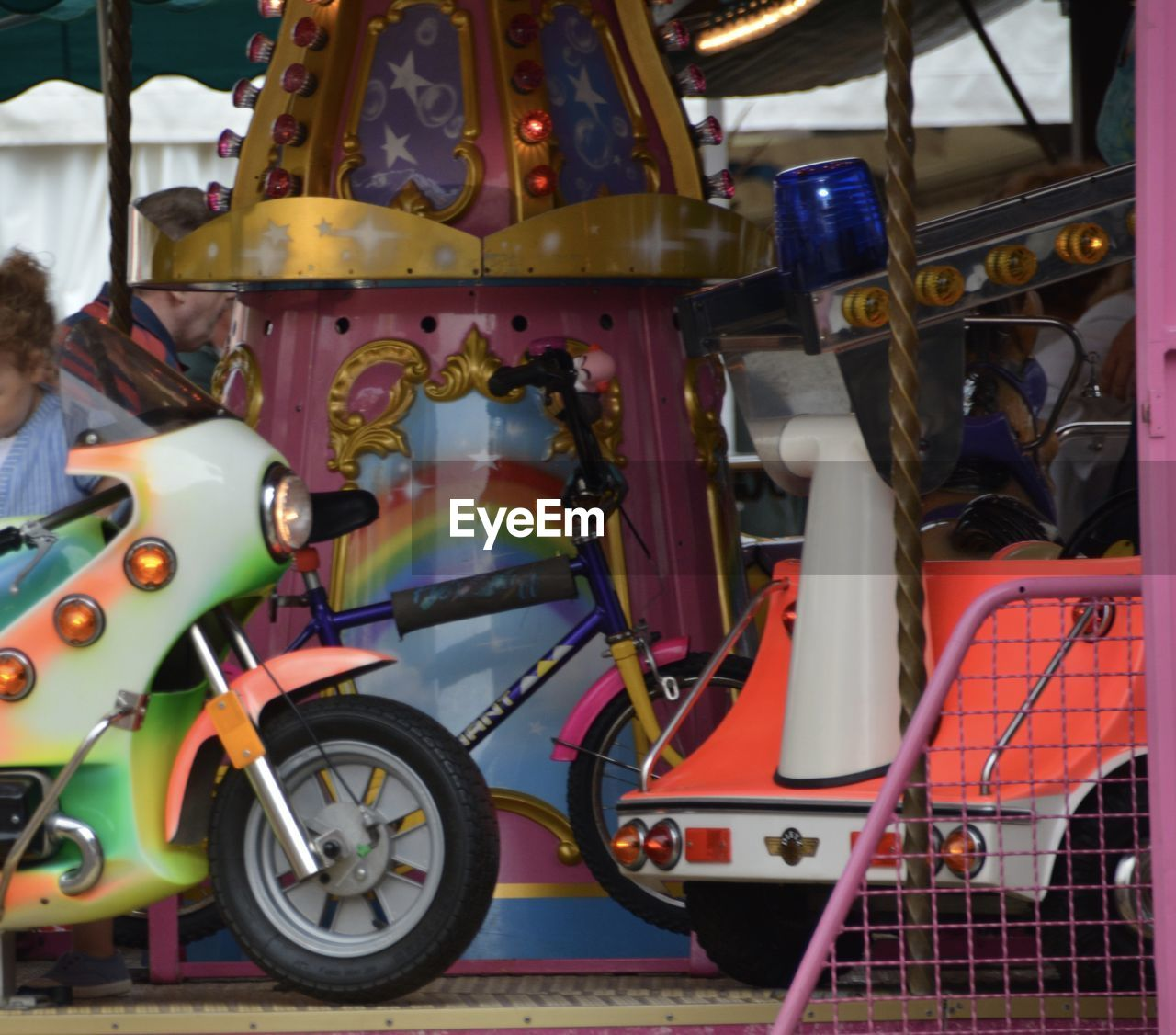 transportation, no people, day, outdoors, childhood, close-up, carousel