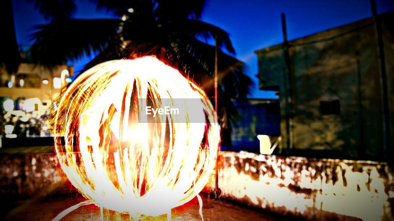Close-Up Of Fireball At Dusk