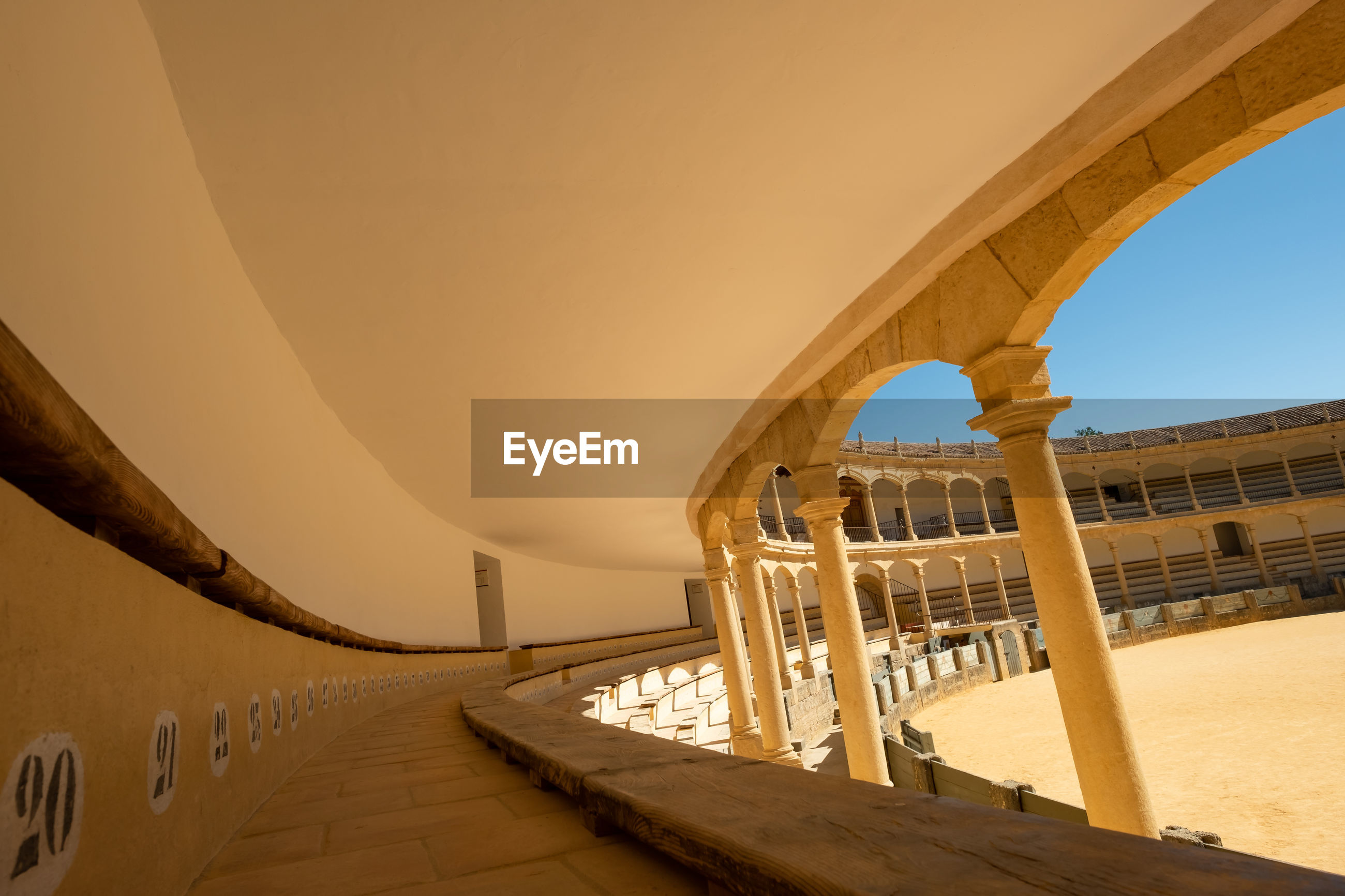 View from inside a spanish bull ring.