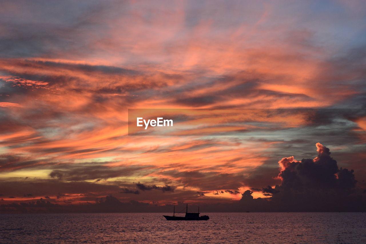 Sunset in boracay. western visayas. philippines