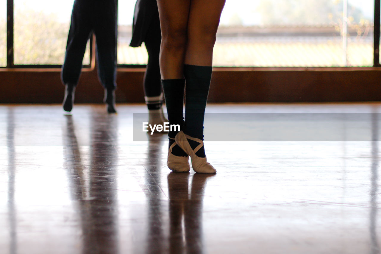 Low Section Of Women In Dance Studio
