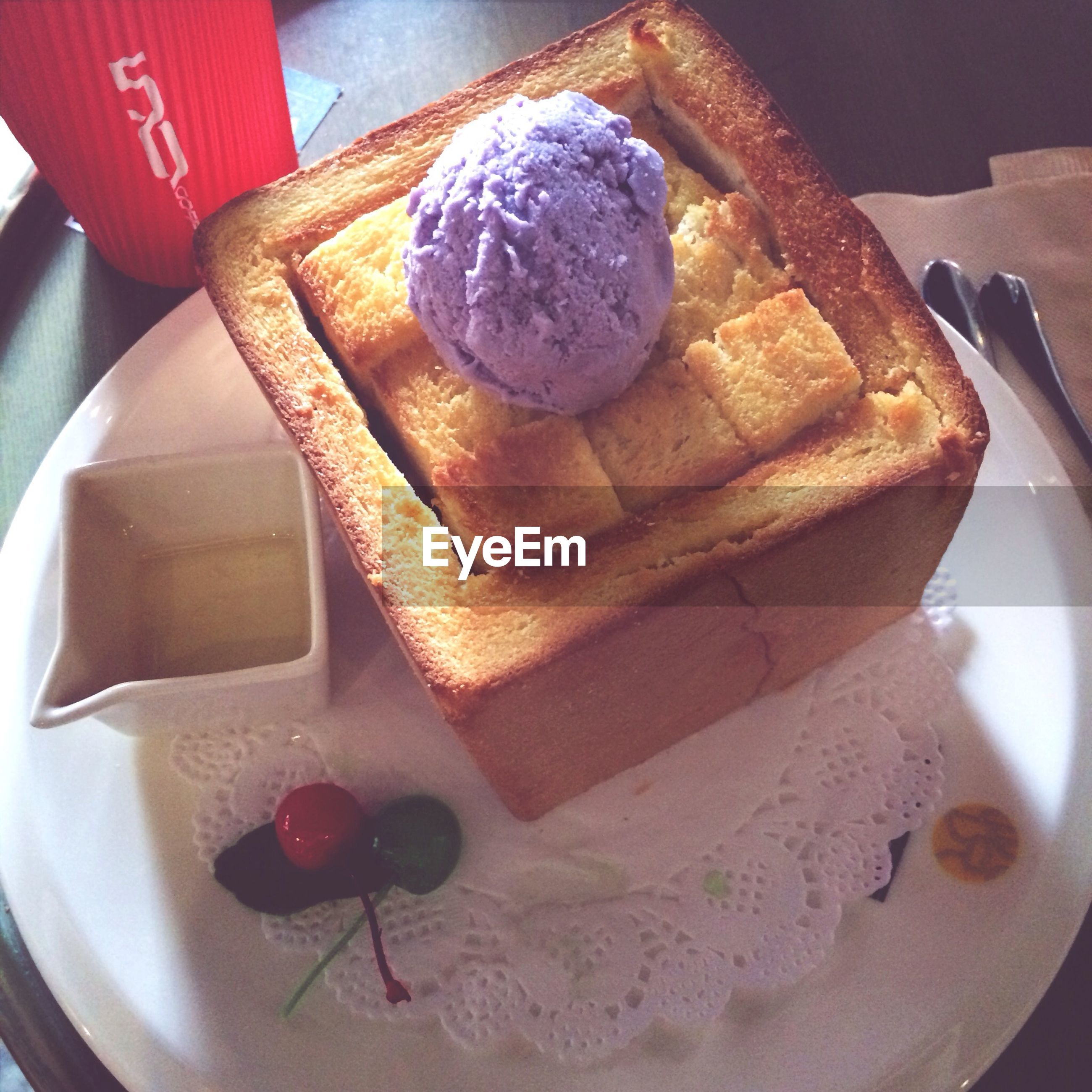 food and drink, food, indoors, sweet food, still life, dessert, freshness, plate, ready-to-eat, high angle view, indulgence, cake, table, unhealthy eating, close-up, chocolate, temptation, no people, baked, serving size