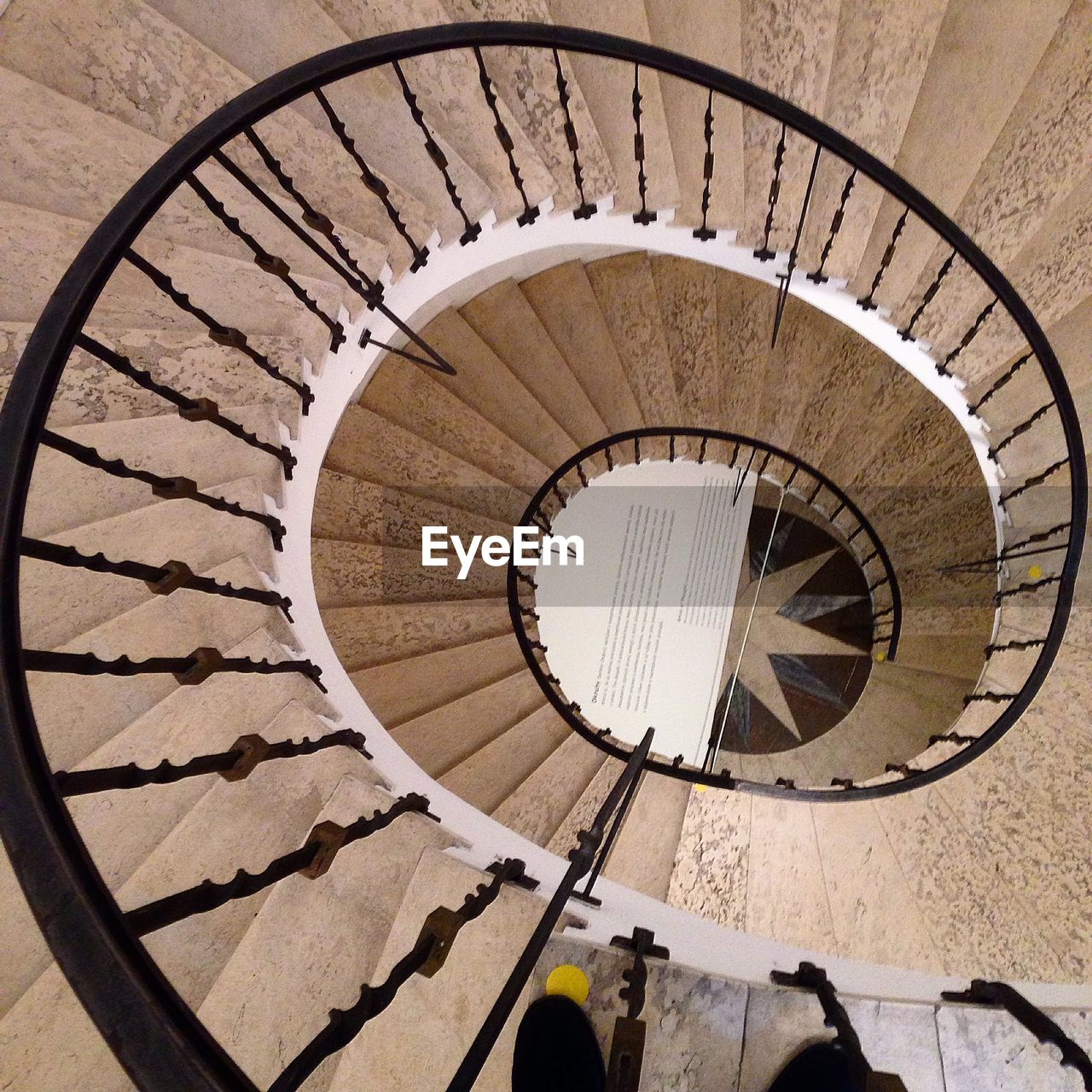 staircase, steps and staircases, spiral, railing, steps, high angle view, spiral stairs, architecture, stairs, built structure, hand rail, no people, day