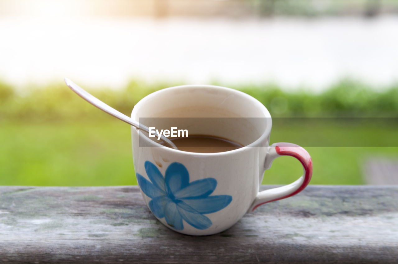 drink, refreshment, cup, table, coffee cup, focus on foreground, food and drink, no people, freshness, close-up, day, outdoors, tea - hot drink, healthy eating