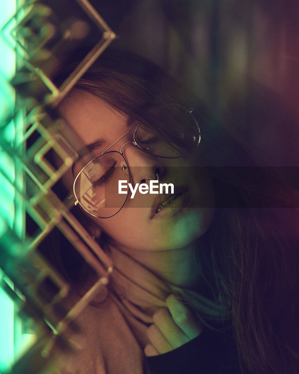 glasses, portrait, one person, young adult, young women, eyeglasses, headshot, real people, leisure activity, looking at camera, women, lifestyles, hair, focus on foreground, close-up, hairstyle, front view, selective focus, beautiful woman, human face, contemplation