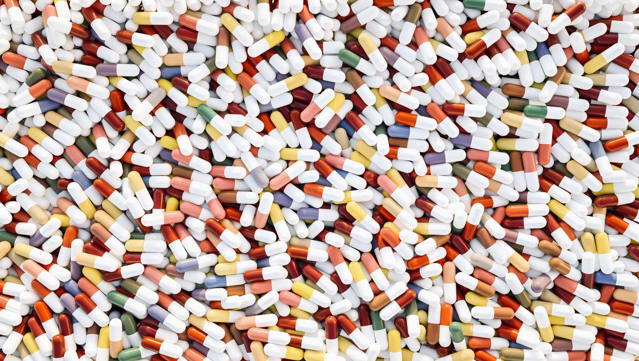 Full frame shot of capsules