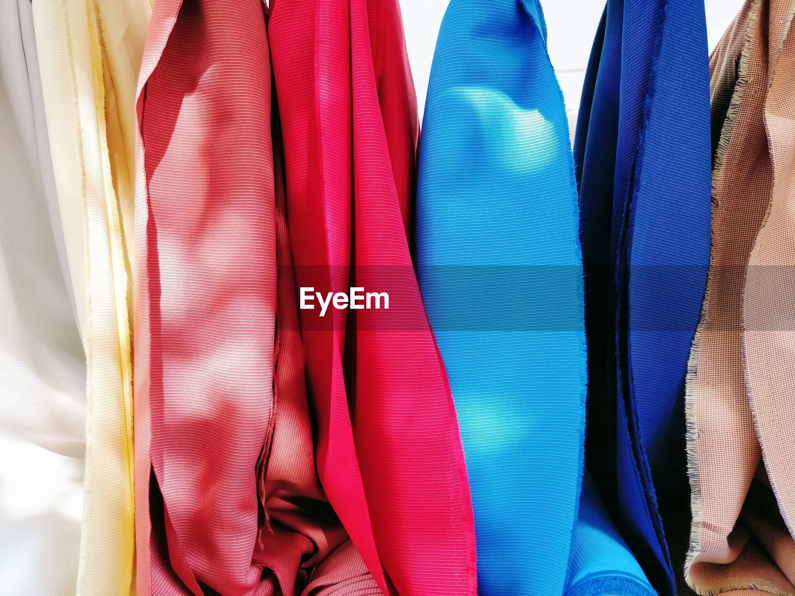 Full frame shot of multi colored textile in store