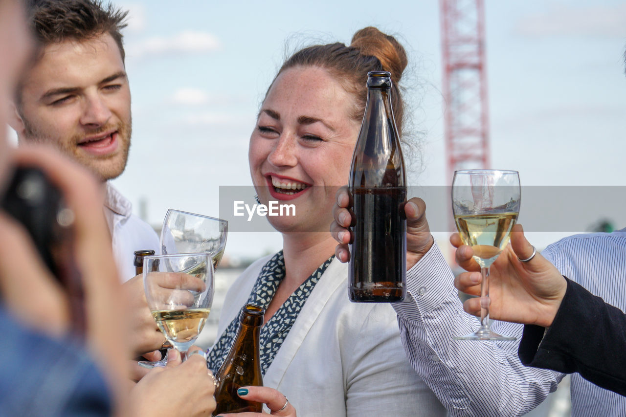 Group Of Friends Clinking Glasses