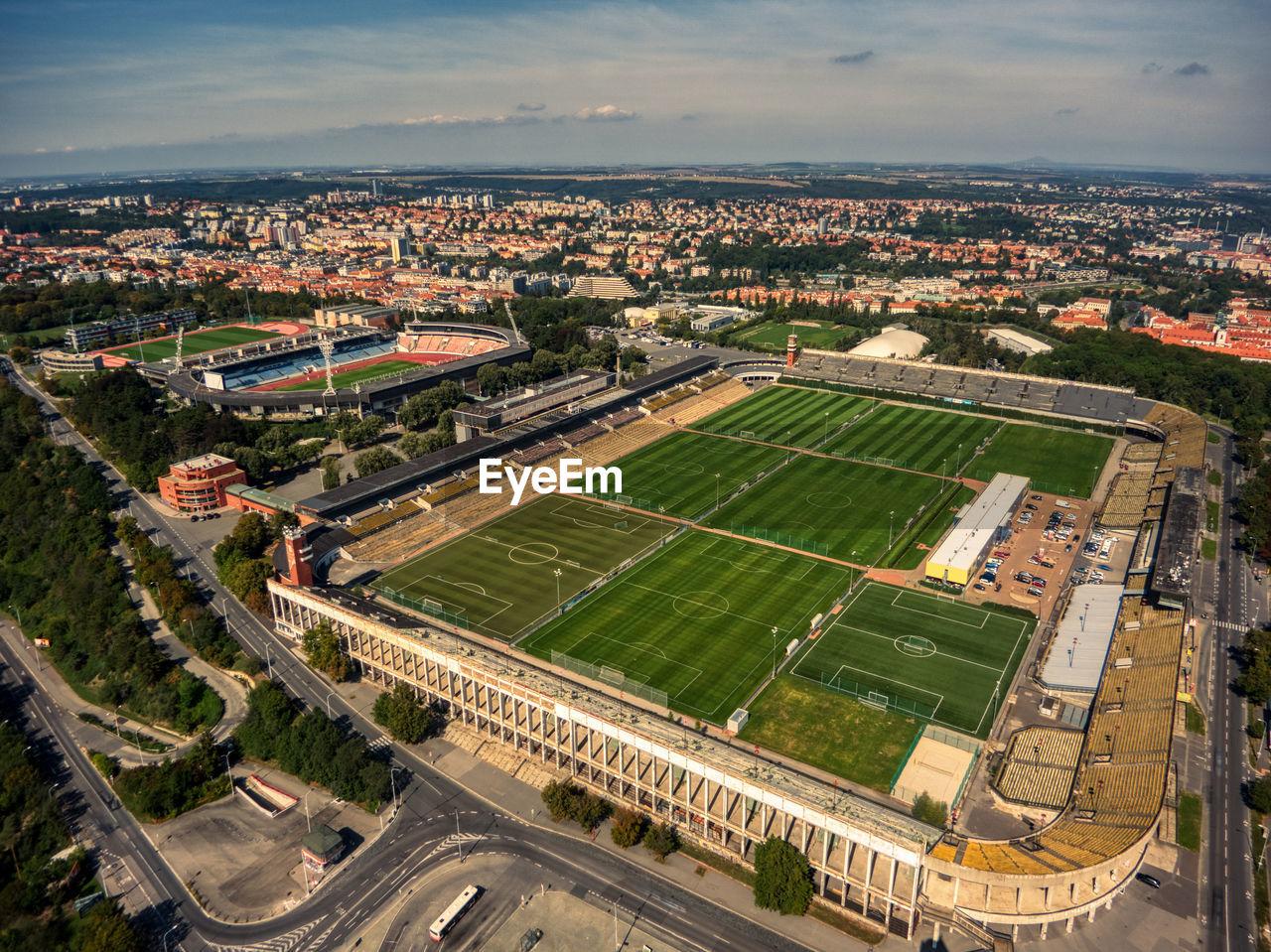 Massive stadium in prague  strahov