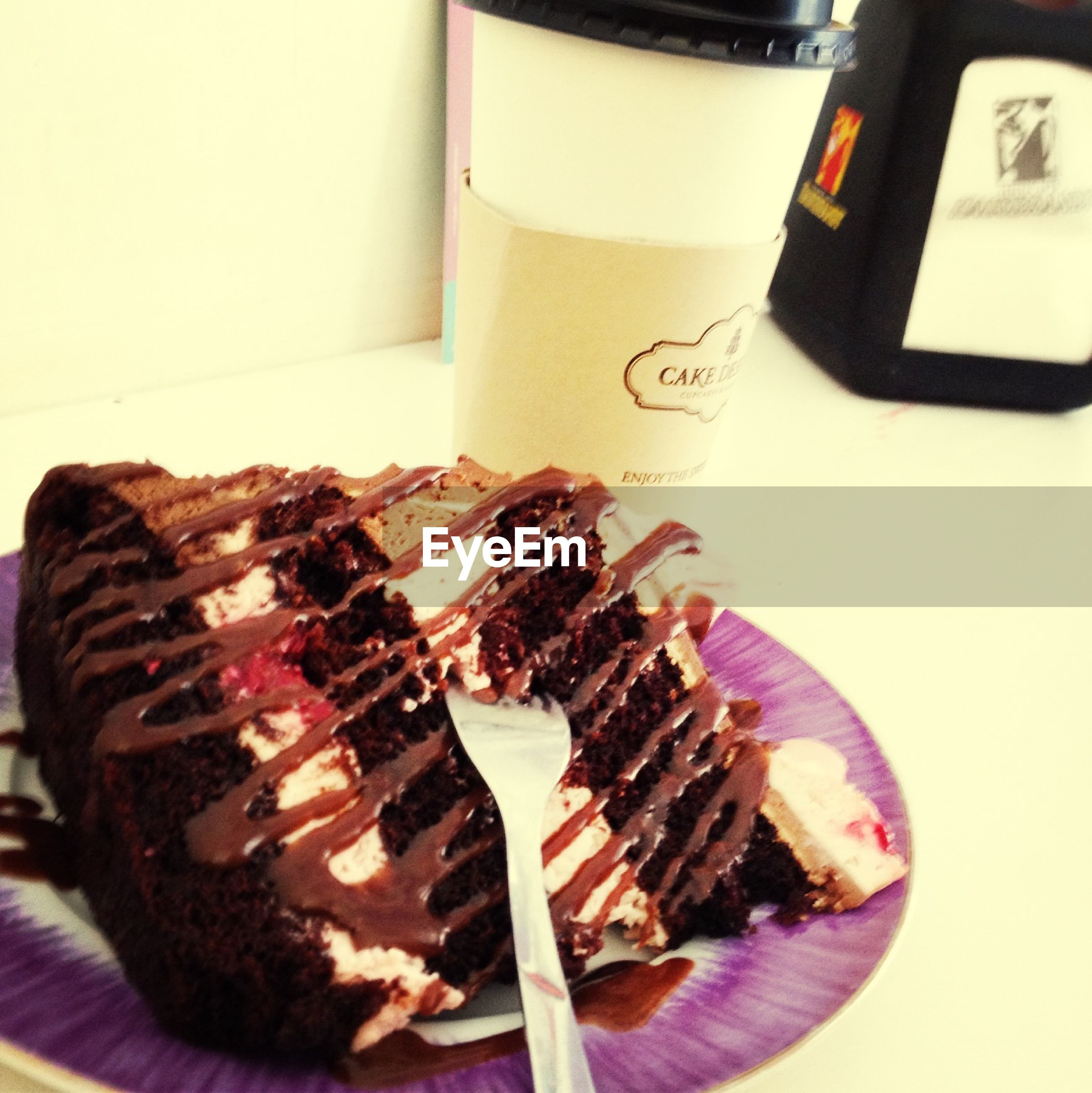 food and drink, food, indoors, freshness, still life, table, ready-to-eat, indulgence, sweet food, unhealthy eating, plate, close-up, dessert, fork, cake, meat, temptation, serving size, high angle view