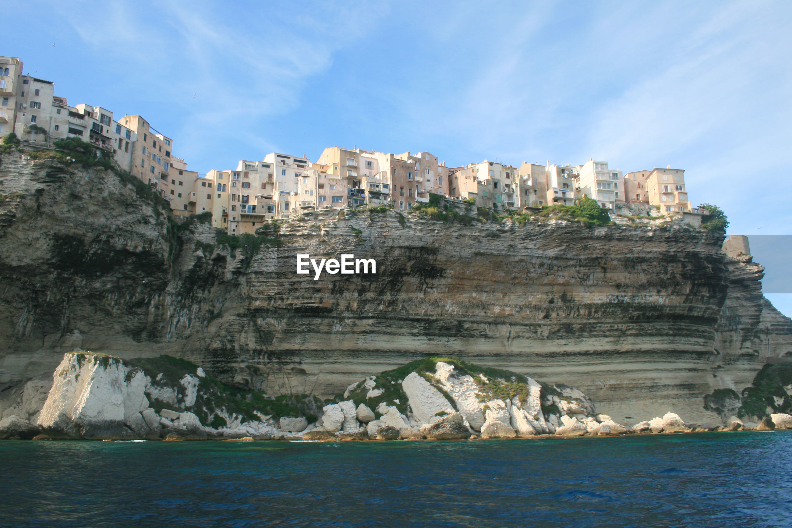 PANORAMIC VIEW OF SEA AND BUILDINGS