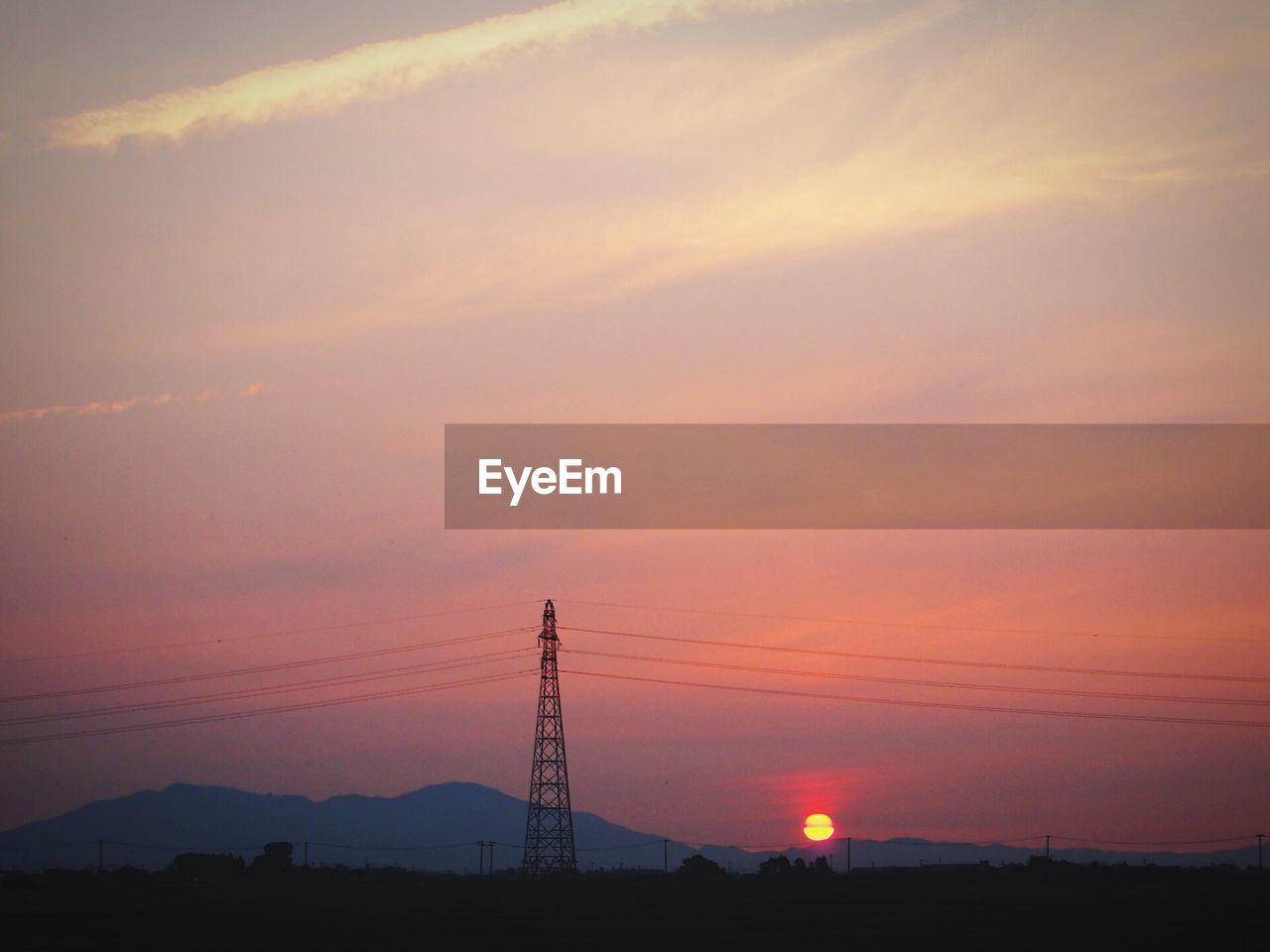 sunset, sky, electricity, electricity pylon, technology, orange color, power line, cable, beauty in nature, silhouette, cloud - sky, scenics - nature, power supply, connection, nature, no people, fuel and power generation, tranquil scene, tranquility, outdoors, telephone line, romantic sky, electrical equipment