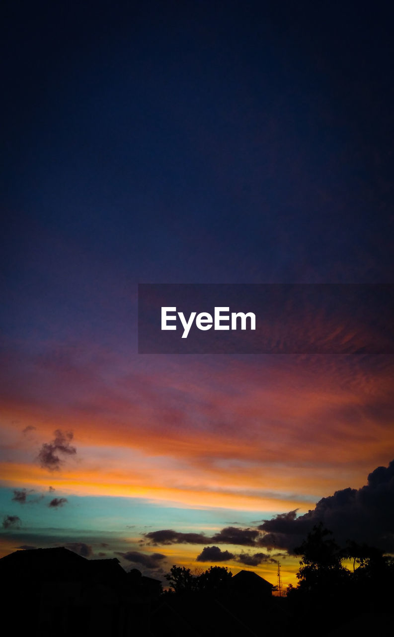 sky, sunset, cloud - sky, beauty in nature, scenics - nature, silhouette, orange color, tranquil scene, tranquility, nature, no people, dramatic sky, idyllic, copy space, outdoors, landscape, dusk, awe, night, environment