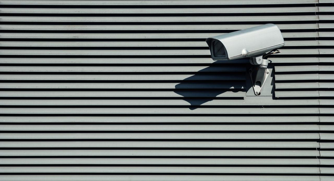 Close-Up Of Security Camera