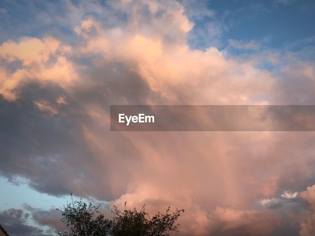 sky, cloud - sky, beauty in nature, nature, low angle view, tranquility, no people, scenics, tranquil scene, outdoors, tree, sunset, day