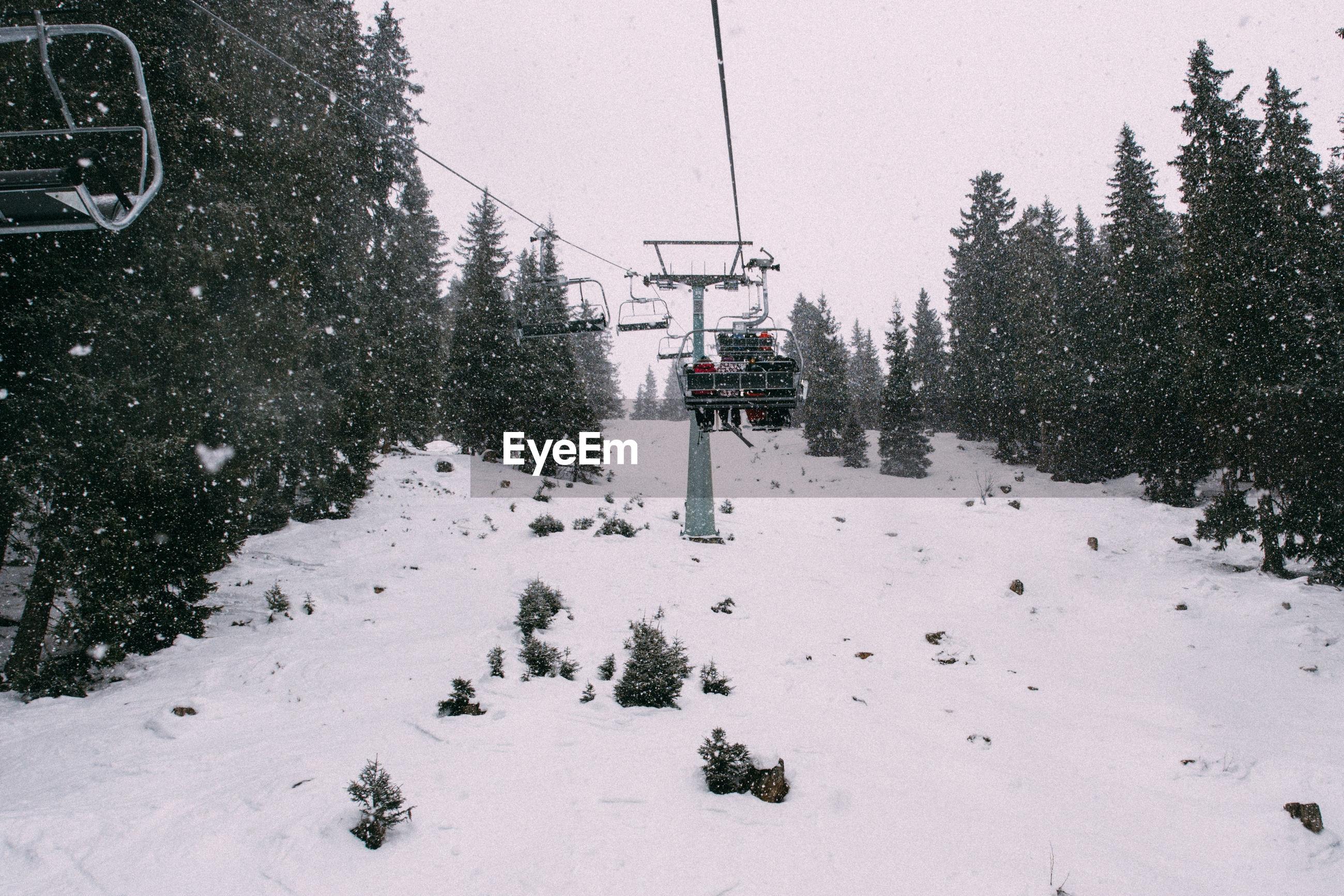 Ski lift against sky