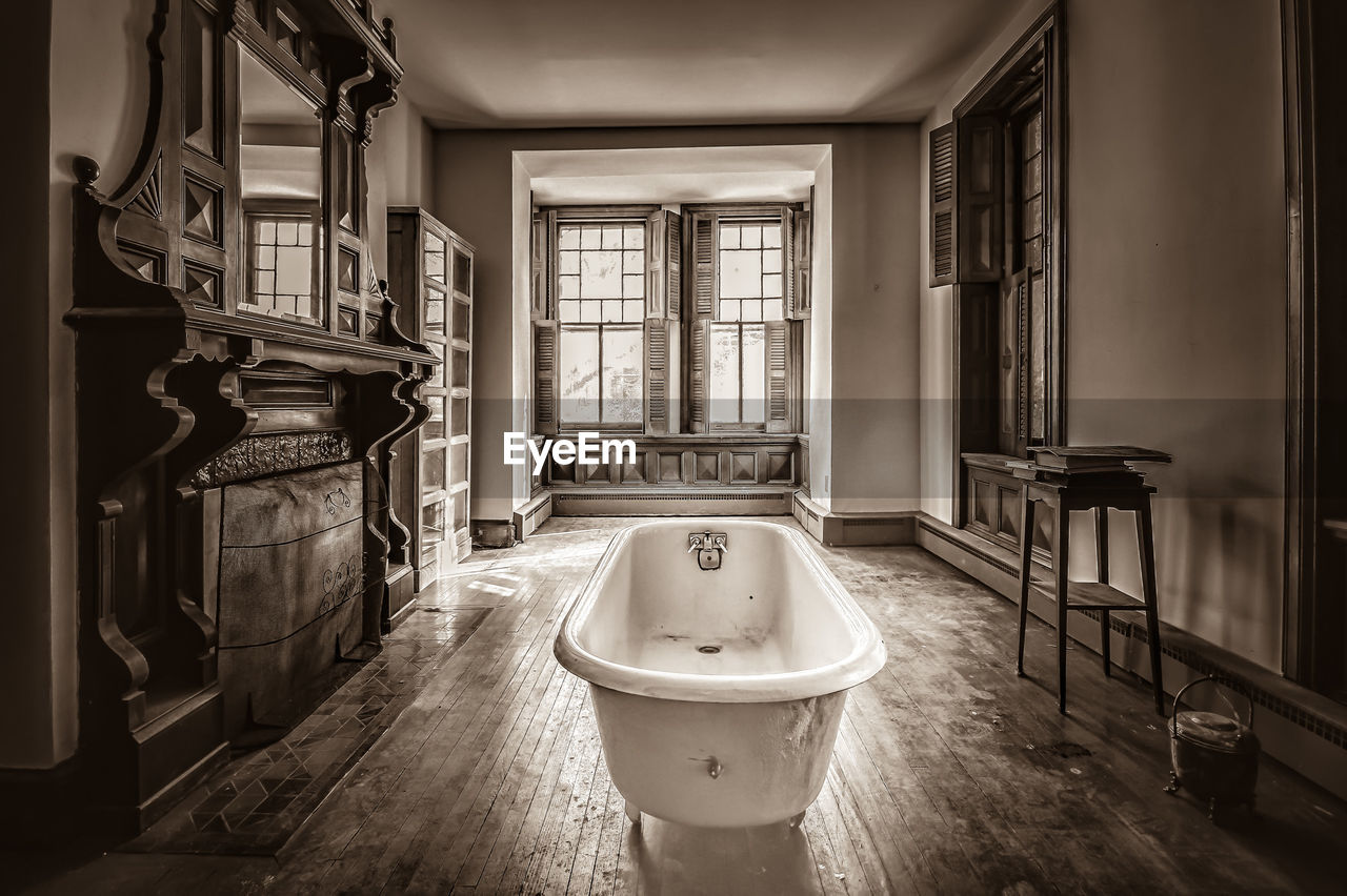 Free Standing Bathtub In Abandoned Home
