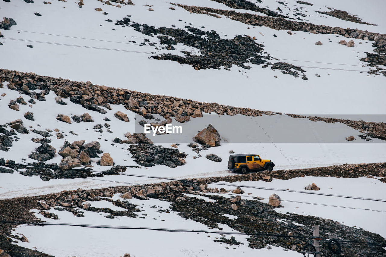 Off-Road Vehicle On Snowfield