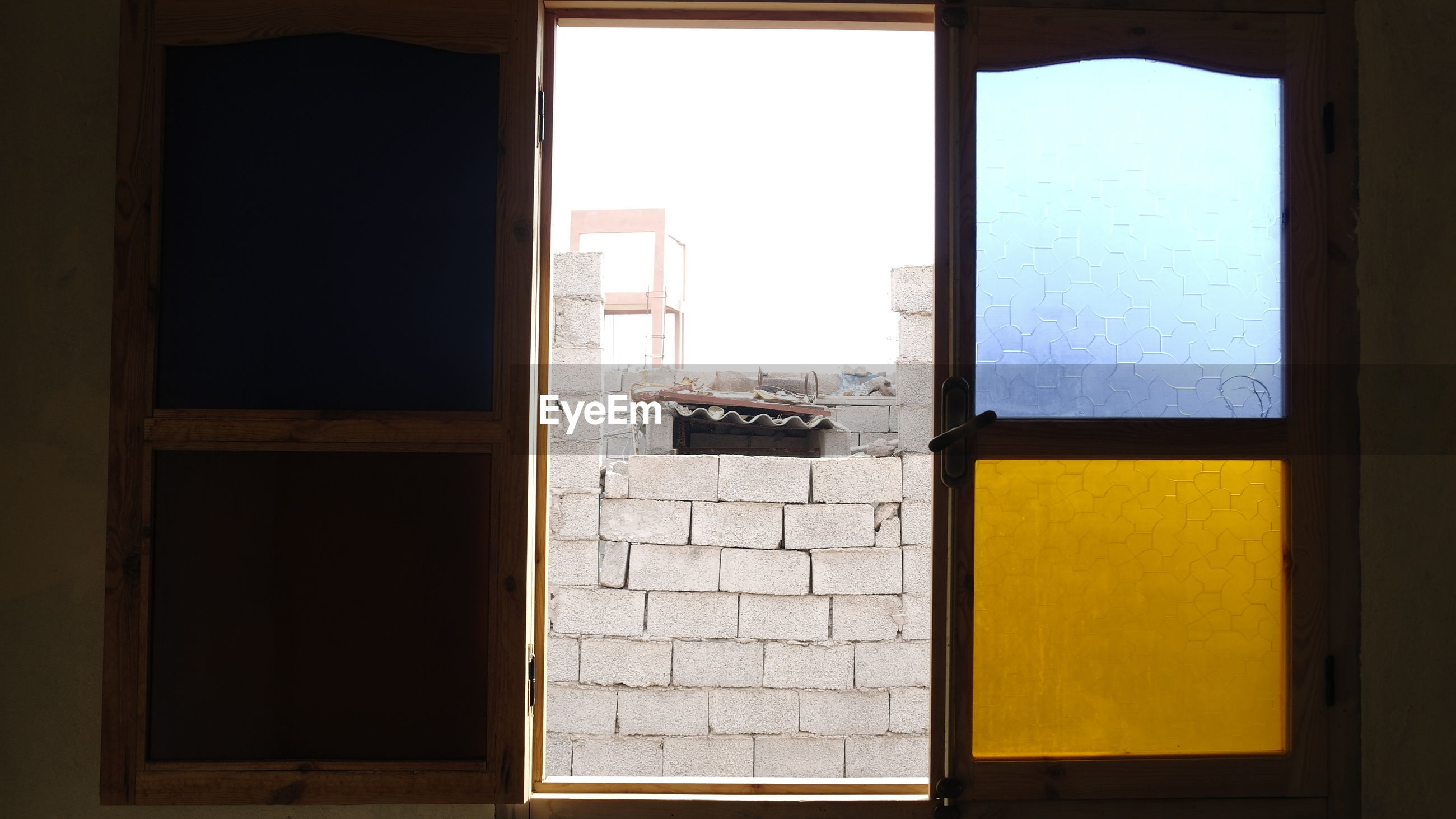 Wall seen from house window