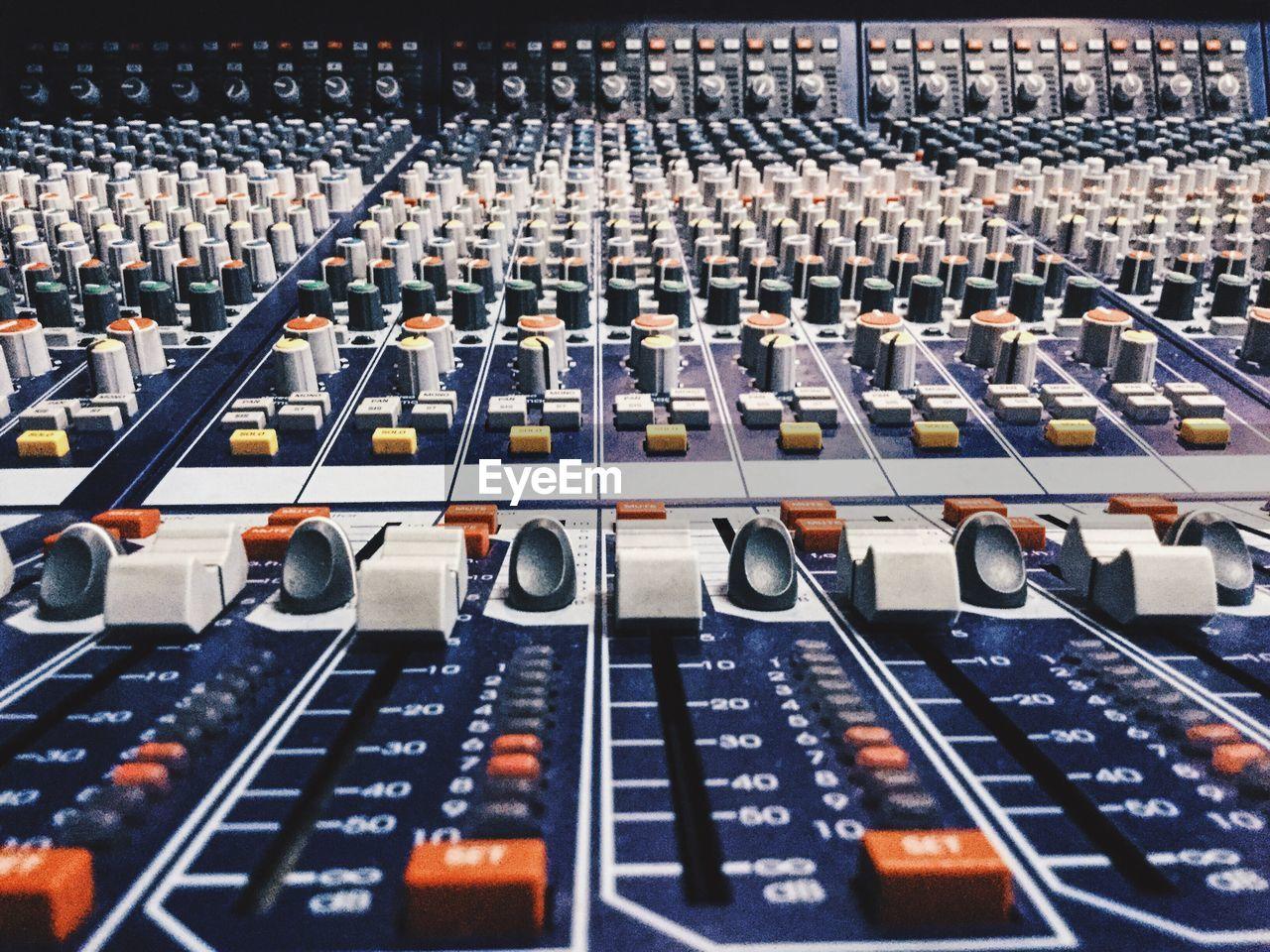 Full Frame Shot Of Sound Mixer In Recording Studio