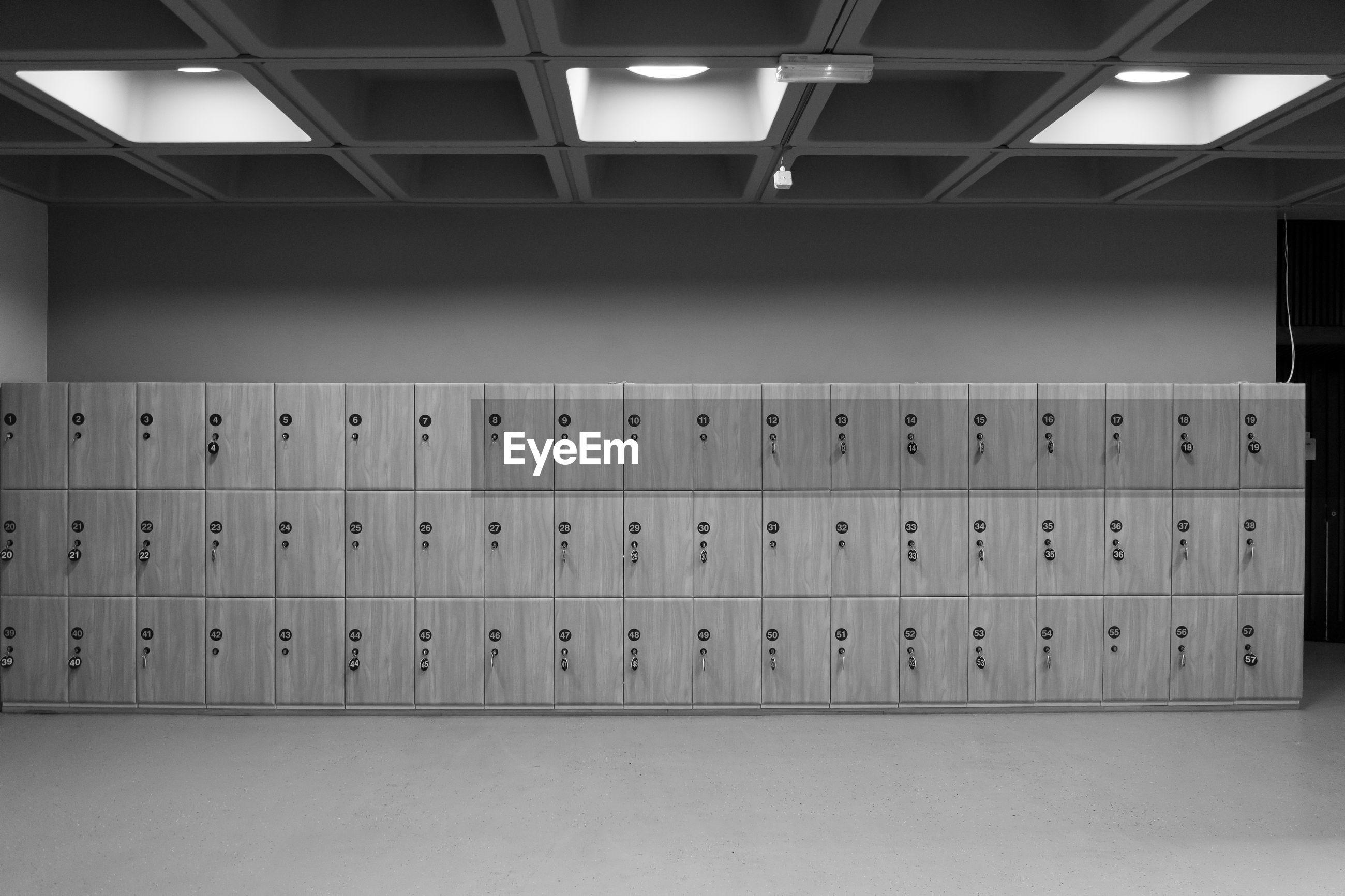 Lockers in room
