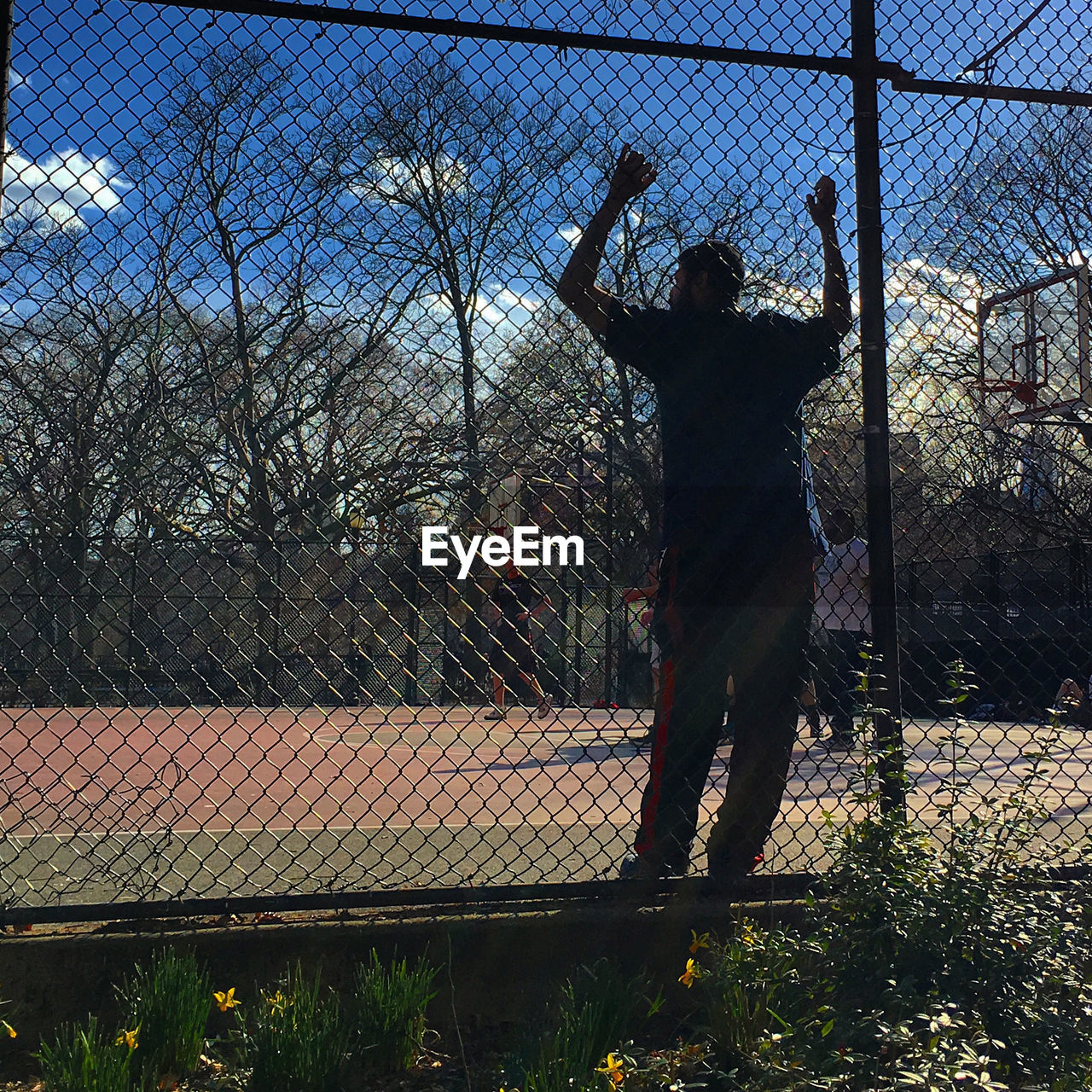 Tompkins Square Park Adult Afternoon Basketball Day Fence Full Length Leisure Activity One Person Outdoors Real People Rear View Sky Sport Standing The Street Photographer - 2017 EyeEm Awards