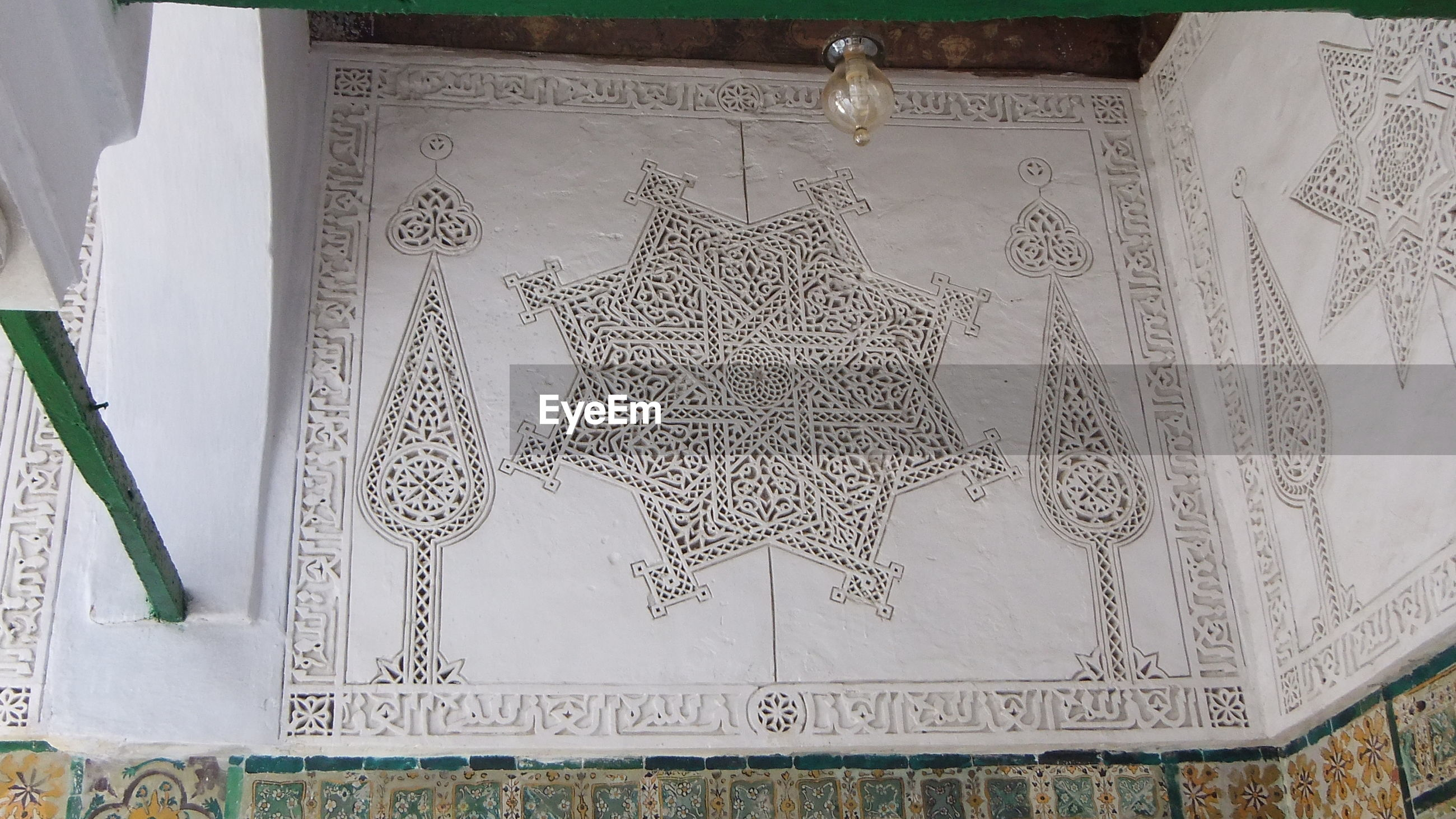 Low angle view of pattern on wall