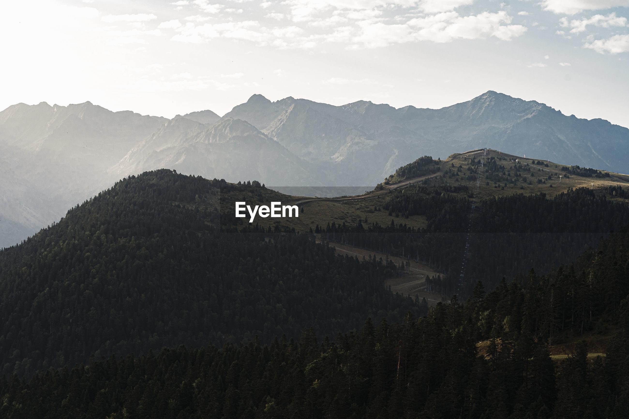 IDYLLIC SHOT OF MOUNTAINS AGAINST SKY