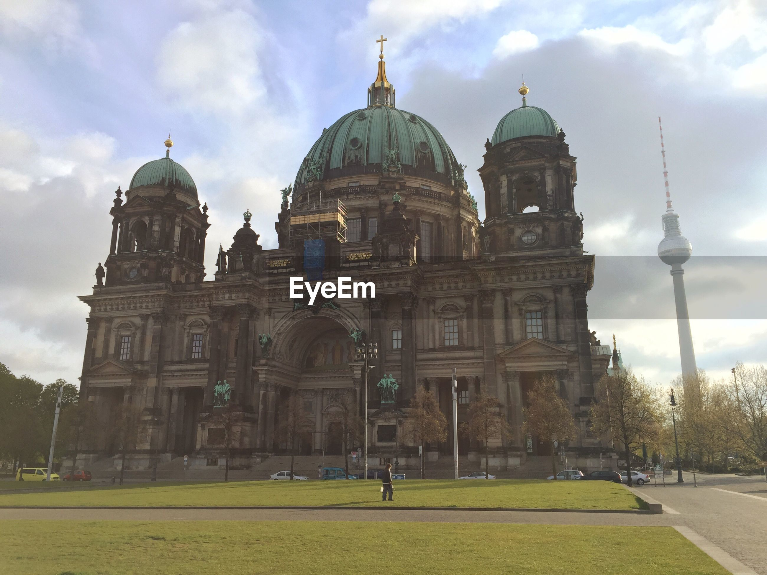 Berlin cathedral against sky