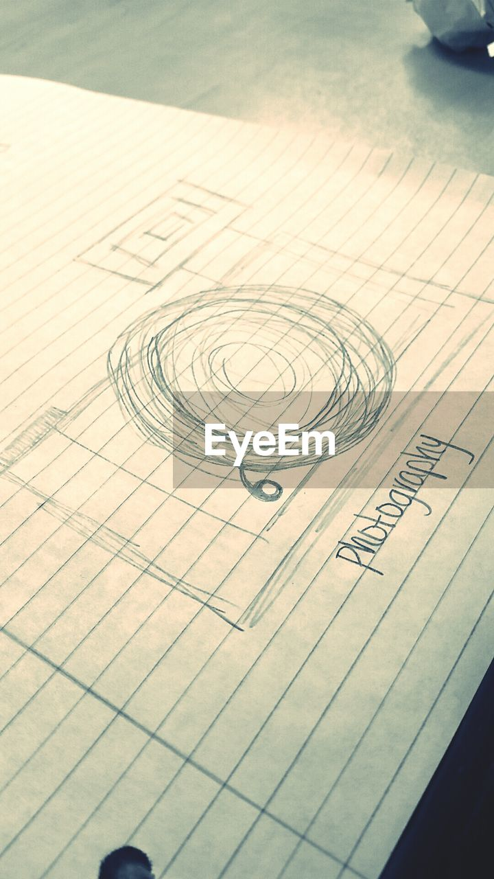 paper, design, accuracy, plan, planning, pattern, high angle view, blueprint, sketch, indoors, no people, close-up, geometry, day