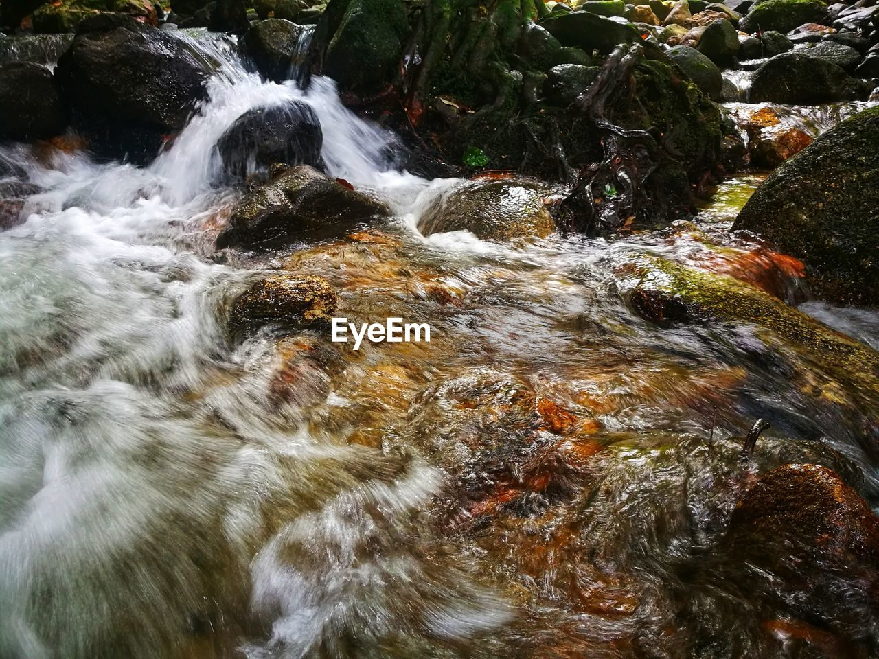 water, motion, flowing water, rock, rock - object, beauty in nature, long exposure, solid, blurred motion, scenics - nature, flowing, nature, day, no people, forest, waterfront, sea, land, sport, stream - flowing water, outdoors, running water