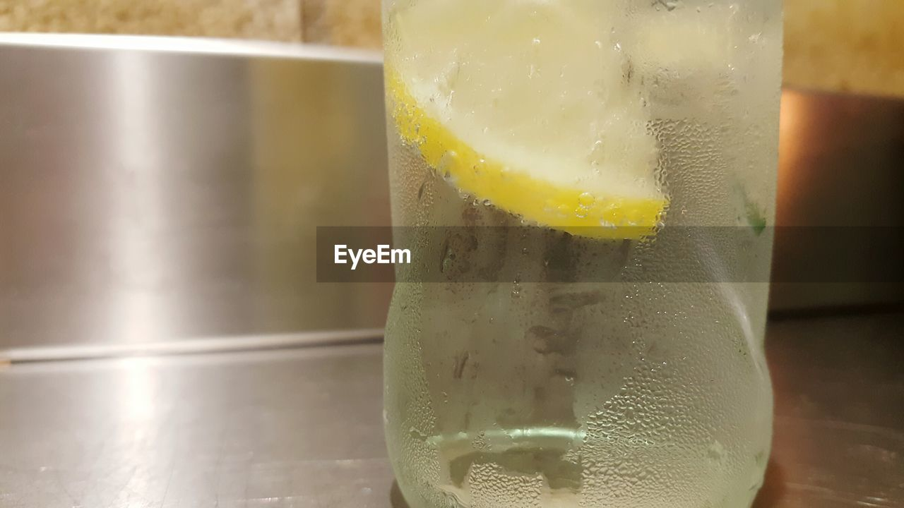 refreshment, close-up, drink, food and drink, indoors, no people, freshness, drinking glass, table, focus on foreground, yellow, lemon soda, healthy eating, day, tonic water
