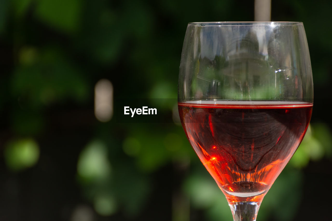 CLOSE-UP OF BEER GLASS OF WINE